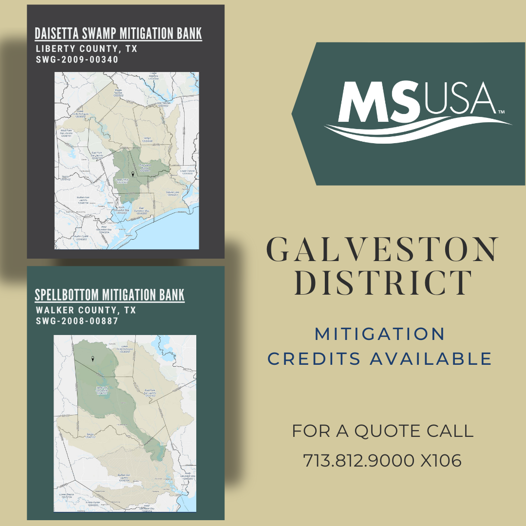 Galveston District Credits Available Now